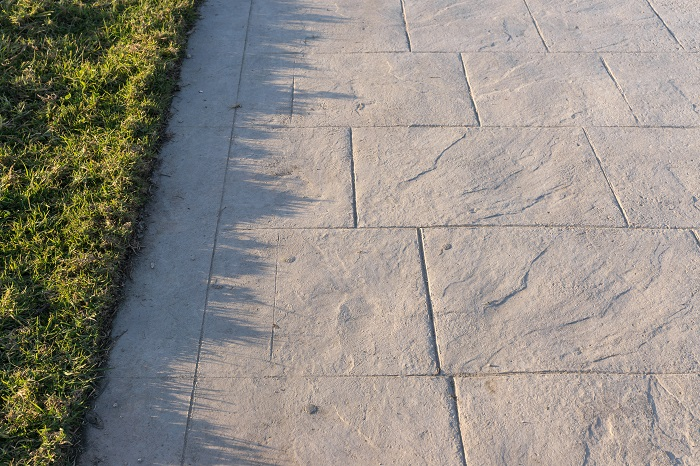 Decorative Stamped Concrete with the Slate Pattern