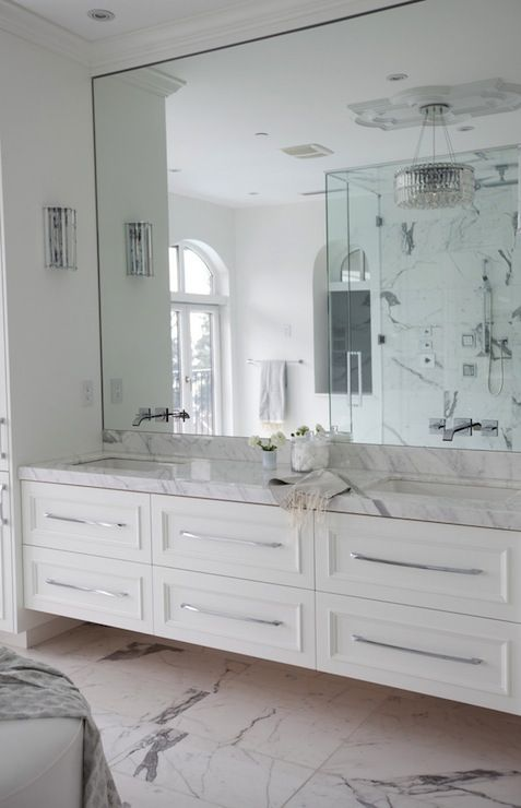 Frameless Wall Mounted Mirror For The Bathroom