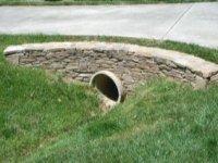 Culvert Pipe under a driveway