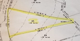 Highlighted Topo Map Section